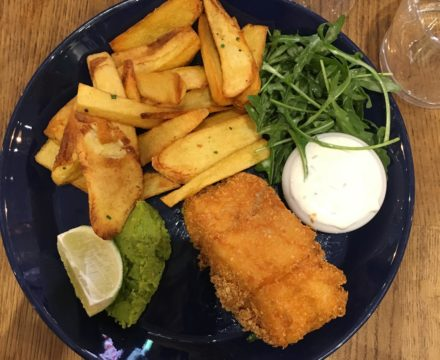 Gluten Free Fish and Chips: Loulou Friendly Diner